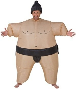 Inflatable Sumo Wrestler Adult Costume Size Standard (Mens Inflatable Sumo Costume)
