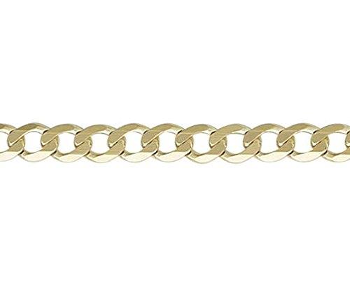 9ct or jaune métrique 19,1cm/Gourmette Bracelet 19cm
