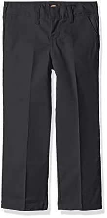 Dickies Kids Boys' Big Flexwaist Flat Front Straight Leg Pant, Charcoal, 8 Husky