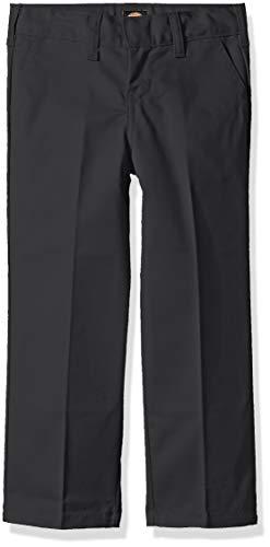 Dickies Kids Boys' Big Flexwaist Flat Front Straight Leg Pant, Charcoal, 16