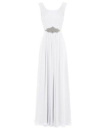 JYDress - Vestido - trapecio - para mujer Marfil