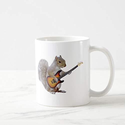 Funny Squirrel Playing Guitar Coffee Mug 11oz Funny Gift Mug