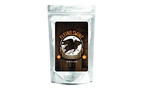 Flying Swine Sweet N' Smoky BBQ Rub 16 Oz - Award Winning Tangy Butt Rub Seasoning & Grilling Spices - Great for Smoking Meats, Rib Rub, Brisket Rub, Pork & Chicken Marinade - No MSG