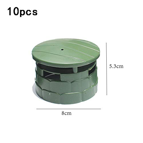 Ocamo 10 Pcs Children DIY Model Toys Sand Table Military Model Accessories Puzzle Learning Toy Round Bunker ()