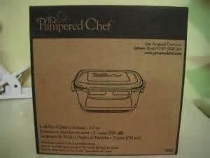 Pampered Chef 3-cup Square Leakproof Glass Container