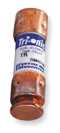 Mersen TR15R Dual Element Midget Class RK5 Rejection Current-Limiting Time Delay Fuse 15 Amp 250 Volt AC 160 Volt DC Tri-Onic (Tri Fuse Onic)