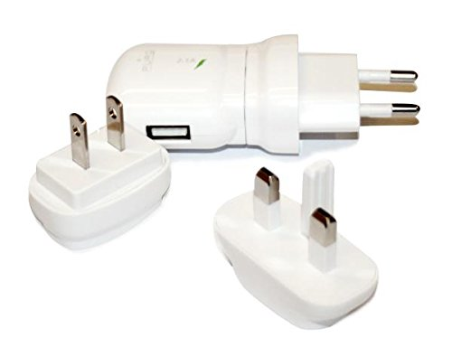 Pure MTCUSBUNIWHI Mini USB Travel Charger with Interchangeable Plugs, White Cora SpA