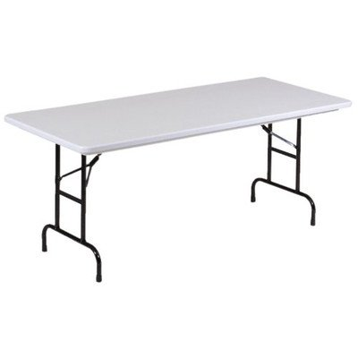 Rectangular Folding Table Color: Gray Granite, Size: 22