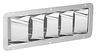 Attwood Stainless Steel Louvered Vent (4-3/8 x 11-5/16-Inch) (Vent Louvered Stainless Steel)