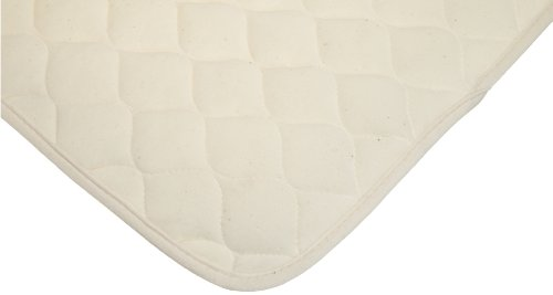 American Baby Company Organic Waterproof Natural Quilted Fitted Portable/Mini Crib pad Cover