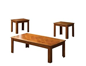 Amazoncom Furniture of America Stanton 3Piece Coffee Table and
