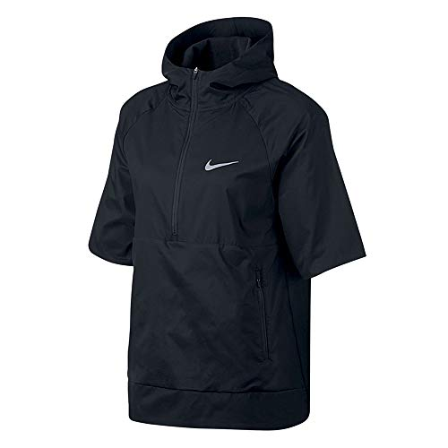 Nike Women's Flex Water-Repellent Short-Sleeve Running Jacket Black Small