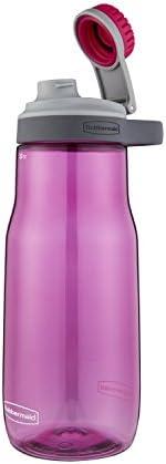 Rubbermaid Garrafa de água Chug à prova de vazamento, 946 ml, rosa torta