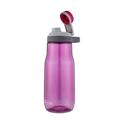 (Rubbermaid Leak-Proof Chug Water Bottle, 32 oz, Tart Pink)