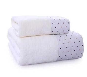 Incluido 1x Toallas de Mano 76x 34cm • 1x Sábanas de Baño 70 x 140cm, lujo 100% algodón egipcio,muy absorbente y de secado rápido de ,Blanco: Amazon.es: ...