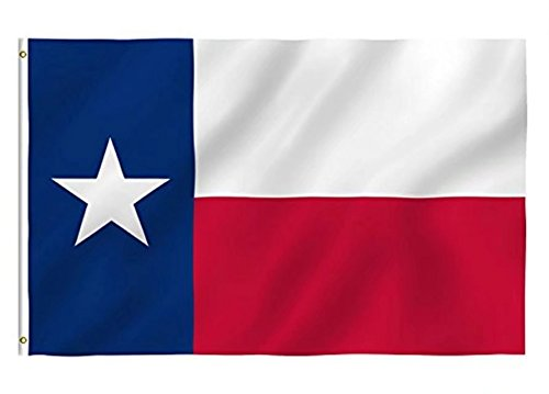 (DANF Texas Flag 3x5 Foot Texas State Flags Polyester with Brass Grommets 3 X 5 Ft)