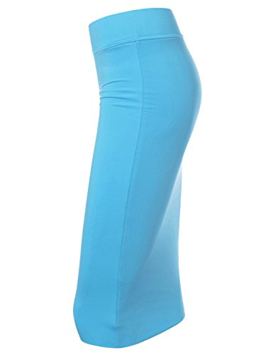 aqua Solid Nknkw7s Femme Nearkin ajust Moderne Jupe zpqYywOP