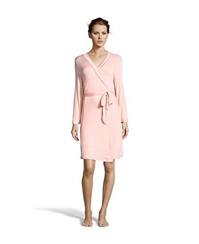 Kathy Ireland Womens Lace Trimmed Nightgown and Polka Dot Robe Pajama Set Grapefruit Medium (Cinch Dot Polka)