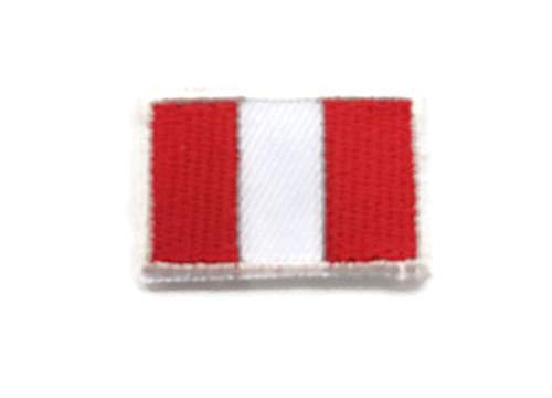 Peru World Countries Flags Iron On Patches 2x3 cm Backpack Size Embroidered Applique]()