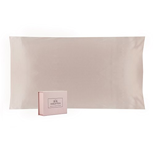 100% Pure, 25 Momme Mulberry Silk Pillowcase, Queen Size, Pink::Luxurious Double Sided, Envelope ...
