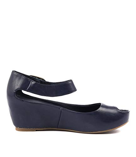Heels Shoes BILLY NAVY LOVE Summer Wedges I OIL SMOOTH Womens Medium TINDOL FOqYaOAIW