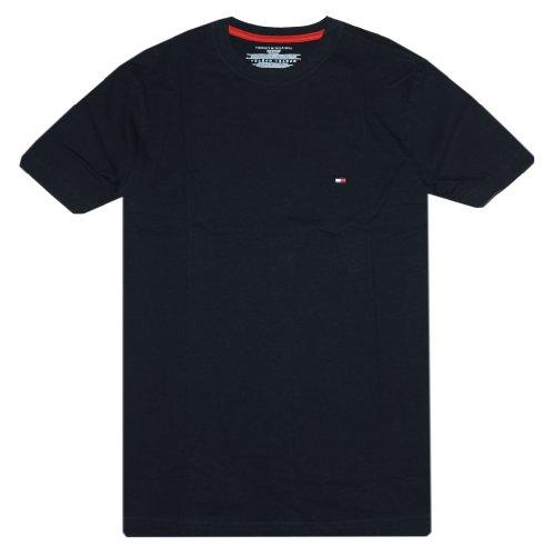 Tommy Hilfiger Men Classic Fit T-shirt (L, Black) (Tommy Hilfiger T Shirt Men)