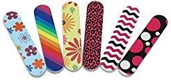 HUELE 24PCS Colorful Mini Emery Board Nail Files ()