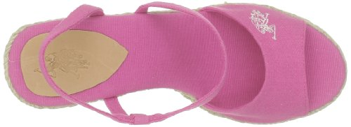 US Polo Assn - Sandalias de tela para mujer Rosa (Rose (Pink))