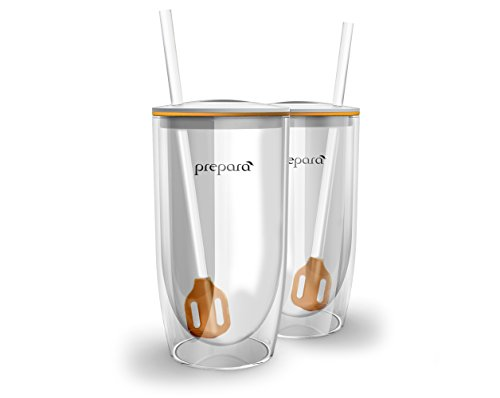 Prepara Insulated Tumbler for Brewed Ice Beverages, Set of 2