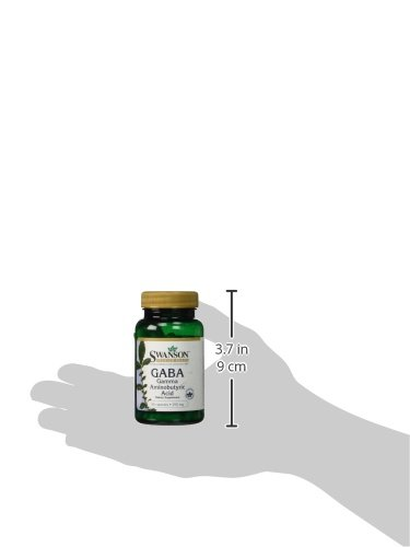 Swanson Gaba Gamma Aminobutyric Acid 250 mg 60 Caps