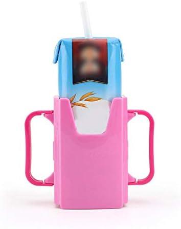 JesseBro76 Portavasos para bebé Caja de cartón de Leche Ajustable Contenedor Caja de Agua para desbordamiento de Leche Rosa roja: Amazon.es: Hogar