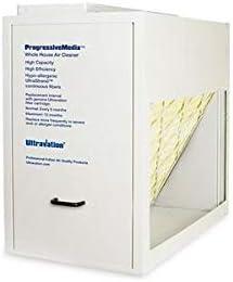 Ultravation 90-064 Right Angle Media Air Cleaner w//20 x 25 x 5 MERV-11 Filter Dark Gray Finish