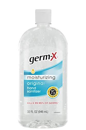 Germ-X Hand Sanitizer, Original, 32 Fl Oz (Pack of 4), 128 Fl Oz