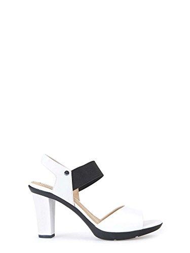 Geox D721VA00085, Sandalias de Tacón Mujer Bianco