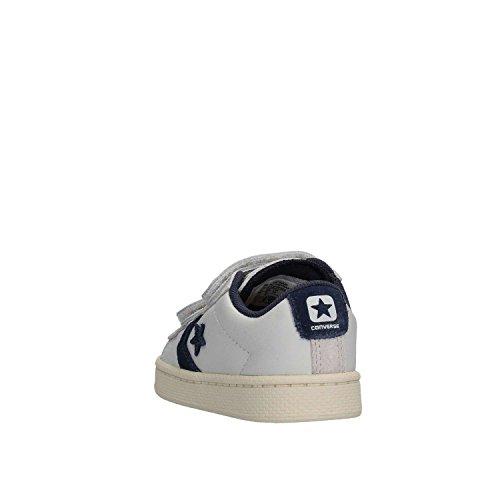 758961c Blanca 2v En Leather Niños White Piel Converse Zapatillas Pro navy Pqw80ng