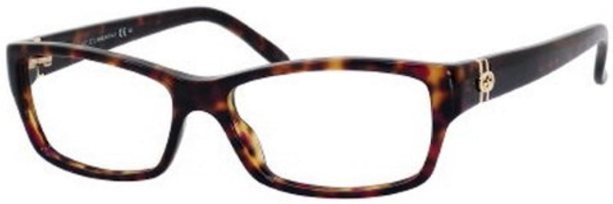 4dfe9c9e89b Amazon.com  Gucci GG3573 Eyeglasses-0TVD Havana-54mm  Clothing
