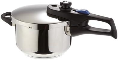 Elo Praktika XS - Olla a presión pequeña (2,7 litros), color plateado
