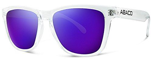 Abaco Kai Junior Sunglasses Crystal Clear Frame Purple Mirror - Sunglasses Kai