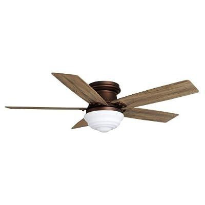 "Maxwell 52"" Mediterranean Bronze Ceiling Fan with remote Conrtol & Light Kit by Hampton Bay"