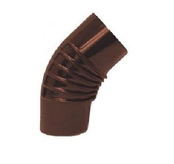 Codo Codos 120 mm 45 grados de chapa Presso PIEGATA esmaltado marrón X Grifería Calderas estufas riscaldamen: Amazon.es: Jardín