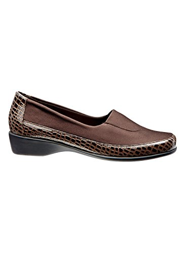 Carol Wright Gifts Angel Steps Croco Wedge Brown