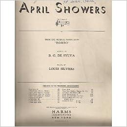 April Showers Bombo Sheet Music: DeSilva and Louis Silves Al