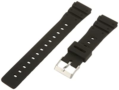 Timex Men's Resin Performance Sport Black Replacement Watchband