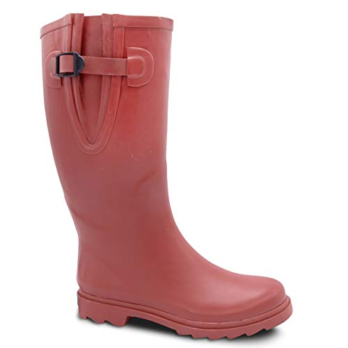 ZOOGS Extra Wide Calf Rubber Rain Boots Wide Foot and Ankle up to 20 Inch Calf -
