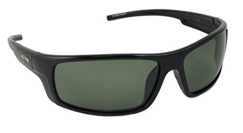 Sea Striker Finatic Polarized Sunglasses, Black Frame, Grey Lens ()