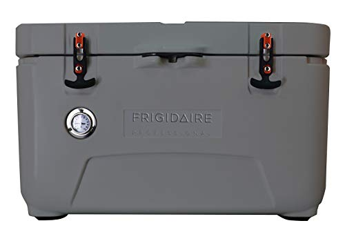 FRIGIDAIRE FXHC7001-GRAPHITE Professional 70-Qt. Roto-Molded Hard Cooler with Built-in Thermometer, Graphite, ()