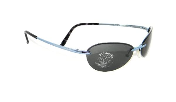 Gafas de sol Vuarnet 195 nuevas Oval Azul + cristales Gris Polarizadas: Amazon.es: Ropa y accesorios