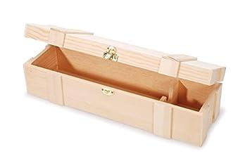Amazon.com: Darice- Caja de vino de madera con bisagra ...