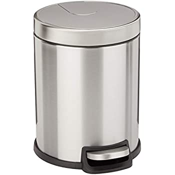 AmazonBasics Round Soft-Close Trash Can - 5L