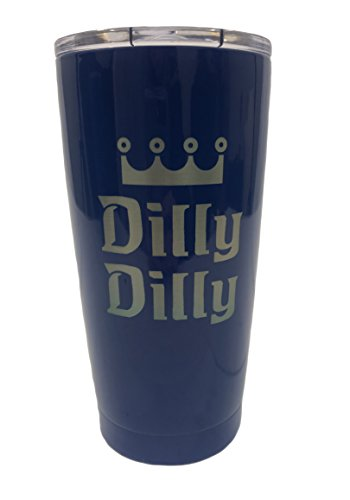 TSC Stainless Steel Powder Coated Double Walled Dilly Dilly Tumbler with Slider Lid-Royal -